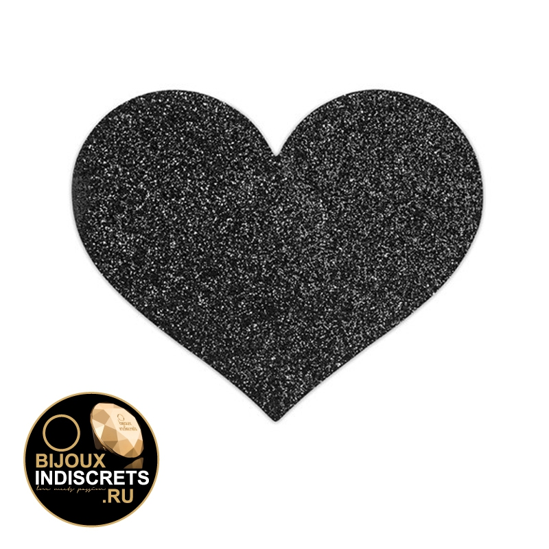 Bijoux Indiscrets FLASH - HEART BLACK. Украшение на грудь