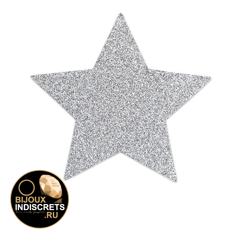 Bijoux Indiscrets FLASH - STAR SILVER. Украшение на грудь